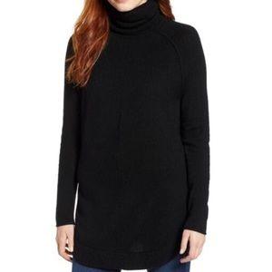 Caslon Nordstrom Side Button Turtleneck Sweater